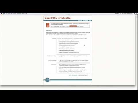 CDA Online Application Process