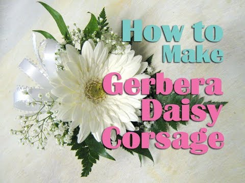 How to make Gerbera Daisy Corsage / Boutonniere