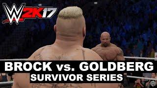 WWE 2K17: Brock vs. Goldberg Survivor Series Sim