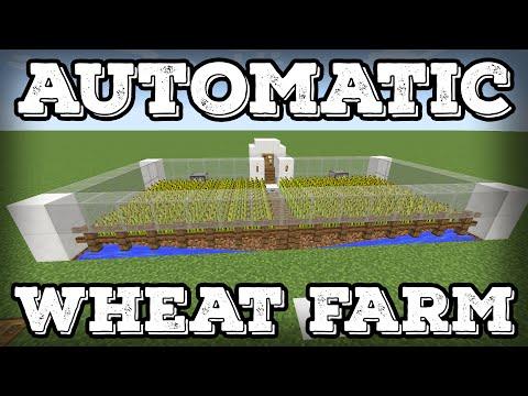Minecraft Tutorial - Automatic Wheat Farm - Automatic Replanting!(Minecraft 1.12+)