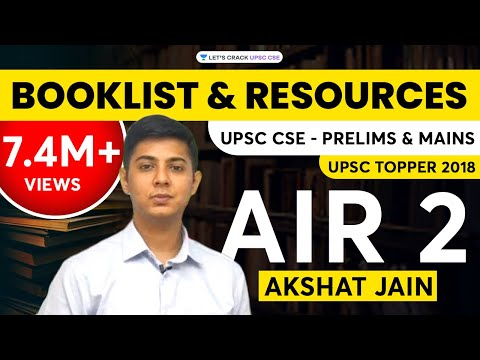 Booklist and Resources for UPSC CSE/IAS 2020 Aspirants