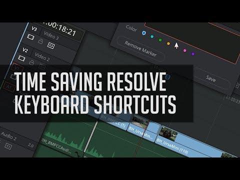 Top Resolve 14 Keyboard Shortcuts!  - DaVinci Resolve 14 Tutorial - Casey Faris