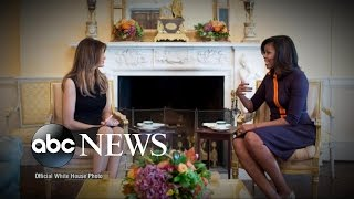 Michelle Obama Welcomes Melania Trump to White House