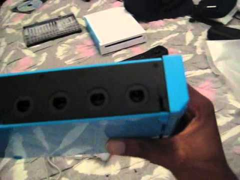 Blue Nintendo Wii Surgery for Gamecube Support Part 4