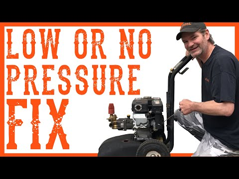 How To Fix a Pressure Washer That Has Low Pressure?