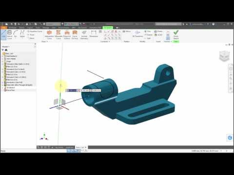 Inventor 2017 3D Sketches