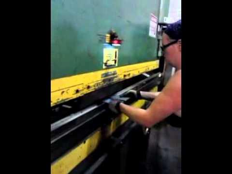 press brake.... making stake pockets