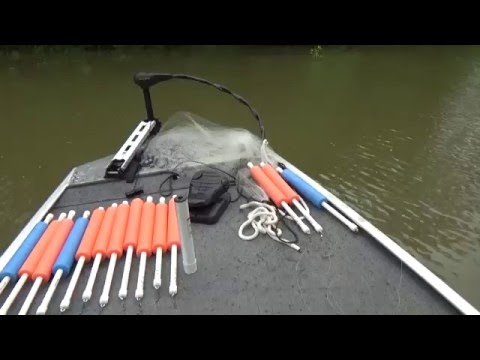 Catfish fishing with jugs on the Tombigbee river in Columbus, Ms