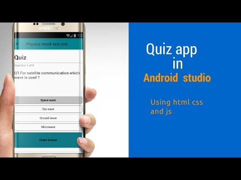 Quiz app in android Studio (using html ,css, js)