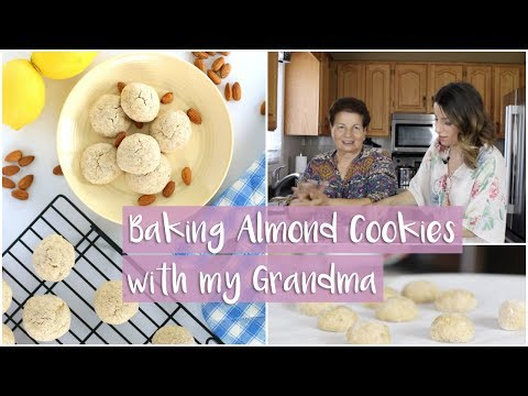 CHEWY LEMON ALMOND COOKIES  | Baking with my Portuguese Grandma