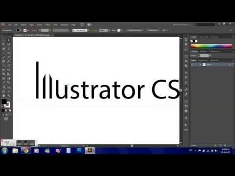 How To Create & Modify Text Outlines in illustrator CS6/CS5