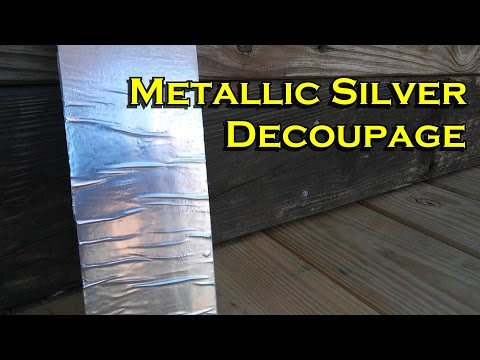 How to Use Decoupage and Metallic Paint on Signs and Frames - OurHouse DIY