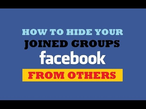 How to Hide your Joined Groups on Facebook from Others? Facebook Privacy Settings