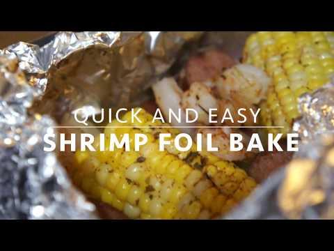 QUICK AND EASY | Shrimp Foil Bake