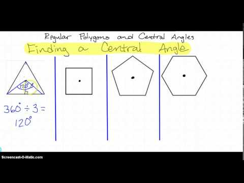 Regular Polygons and Central Angles