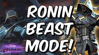 Download Ronin (Avengers Endgame) Rank Up & Beast Mode Gameplay - Marvel Contest of Champions Video