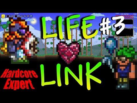 Terraria Expert Hardcore Life-Link w/ NoWayLarry  #3