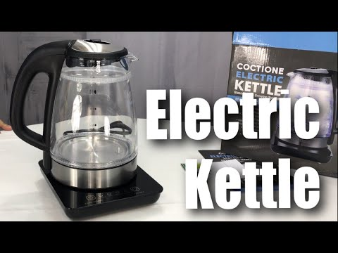 COCTIONE Glass Digital Double Wall Cool Touch Cordless Electric Tea Kettle Review