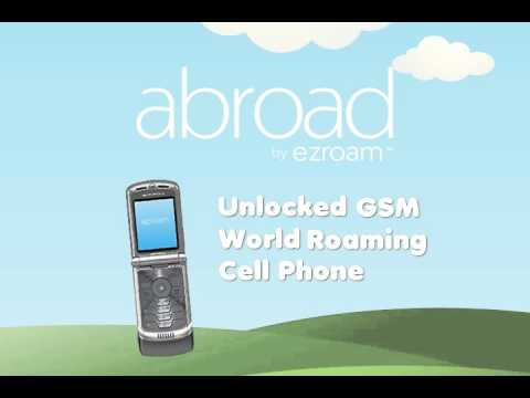 How to use a cell phone while travelling abroad