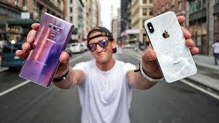Galaxy Note 9 VS iPhone X - ULTIMATE VIDEO CAMERA COMPARISON