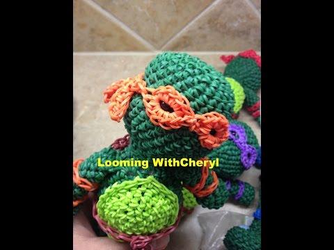 Rainbow Loom Teenage Mutant Ninja Turtles 3 of 3 - Mask Extension - TMNT Amigurumi Hook Only