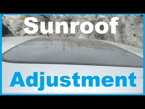 Removing and adjusting the sunroof glass Volvo S60 2001-2009