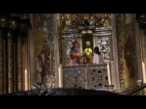 Montserrat, Black Madonna, Royal Basilica, Spain (A trip from Barcelona)