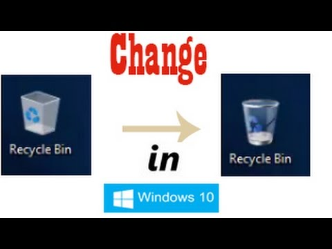 how to change recycle bin icon windows 10