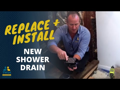 How to replace & install a new shower drain before you tile