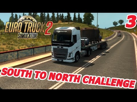 Euro Truck Simulator 2 - SWEDEN - South To North Challenge #3