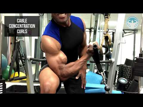 BICEPS DAY! - CABLE CONCENTRATION CURLS!
