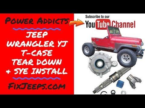 Jeep Wrangler YJ SYE - Slip yoke Eliminator Install #slipyokeeliminator