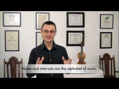 The Practicing Companion - About Violin Notes and Intervals