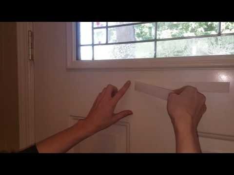 Tips on removing adhesive velcro from your door.