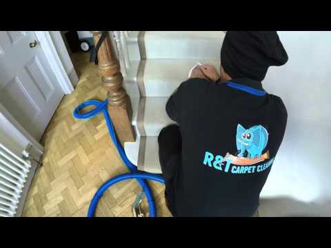 R&T Carpet Cleaning-Coffee stain removal from a wool carpet in Chiswick