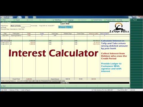 TALLY ERP9 - AUTO INTEREST CALCULATOR