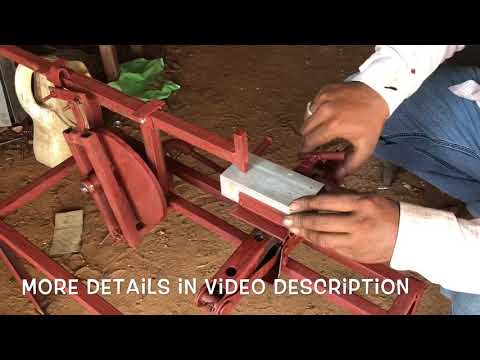 Mini Shaper Machine   crank and lever mechanism