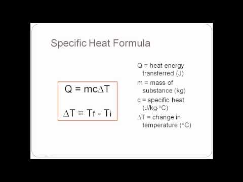 Thermodynamics (Physics) Lesson 2 Heat Transfer and Specific Heat.avi