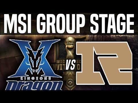 KZ vs RNG - MSI 2018 Group Stage Day 4 - Kingzone DragonX vs Royal Never Give Up | LoL MSI 2018