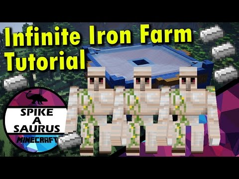 How to Build an Iron Farm in 1.11.2 Minecraft Tutorial