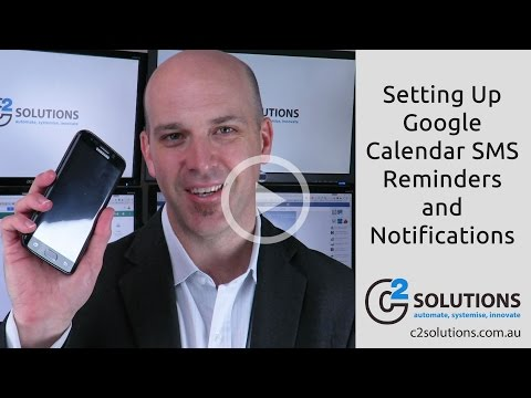 Setting Up Google Calendar SMS Reminders and Notifications for Google G Suite (Not Personal Gmail)