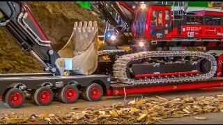 RC Truck Excavator transport! Stunning R/C ACTION!