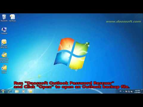 How to Recover Lost PST Password for Outlook 2003/2007/2010/2013