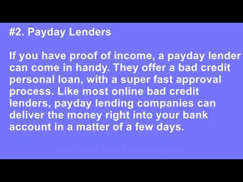 Who Can I Contact to Receive a Fast Personal Loan With Bad Credit