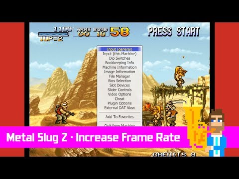 How to get a better frame rate in Metal Slug 2 using MAME
