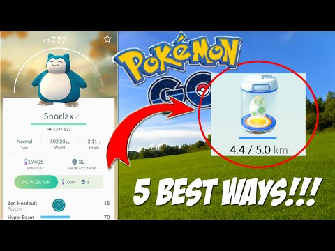 TOP 5 BEST WAYS TO HATCH EGGS WITHOUT WALKING | POKEMON GO!!