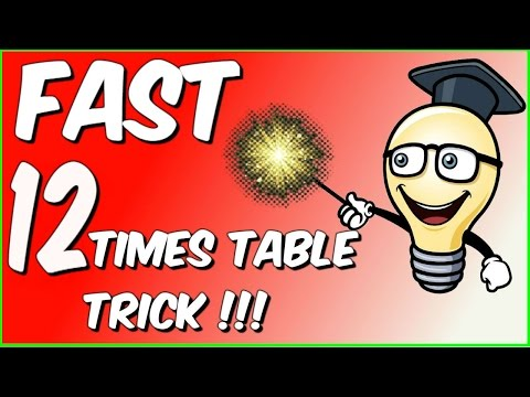 Fast 12 times table trick!!!