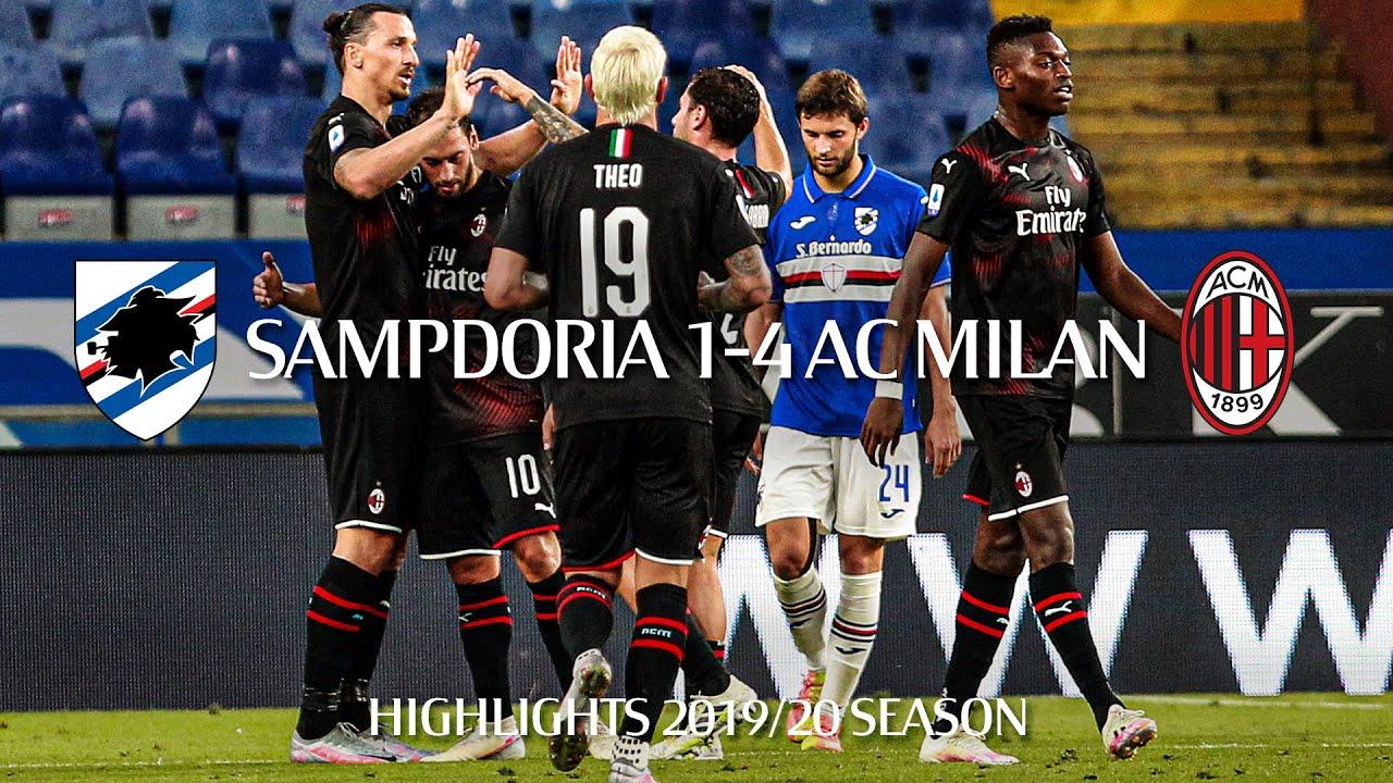Highlights   Sampdoria 1-4 AC Milan   Matchday 37 Serie A TIM 2019/20