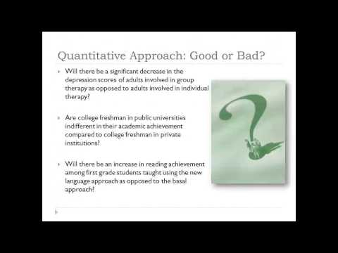 Developing a Quantitative Research Plan: Research Questions