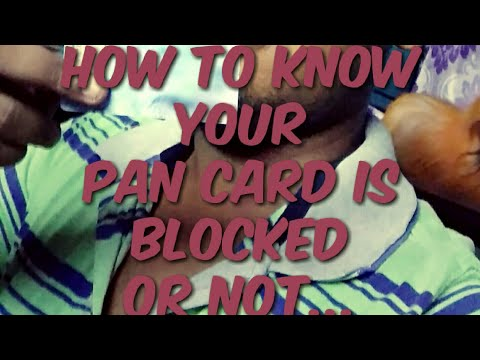11.44 lakh Pan Cards Blocked || How to Know or Check My Pan Card is Active or Deactive in Hindi